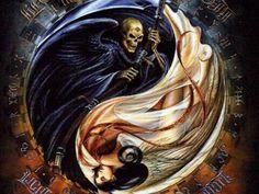 17 best images about ying yang on pisces Arte Yin Yang, Yin Yang Art, Vs Angels, Angels And Demons, Evil Demons, Wallpaper Caveira, Yen Yang, Art Noir, Yin Yang Tattoos