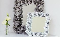 DIY Egg Carton Decorative Mirror