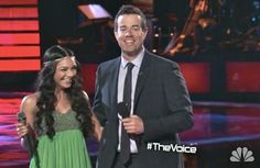 Mathai wore Aidan Mattox while performing on The Voice
