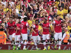 Arsenal Team Celebrate.