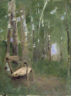 Helene Schjerfbeck - Parksoffan (Lilla parken vid Sundsby) 1862 Helene Schjerfbeck, Helsinki, Landscape Art, Landscape Paintings, Art Eras, Light Of Life, Abstract Images, Color Of Life, Female Art