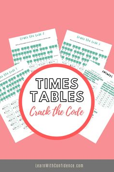 This fun, colorful resource will help your child to learn their times tables off by heart. Each worksheet contains an inspirational quote to decode using the key. Memo included. Times Tables, Decoding, Worksheets, Confidence, Inspirational Quotes, Learning, Fun, Multiplication Tables, Life Coach Quotes