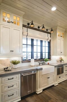 Rustic kitchen sink farmhouse style ideas (39)