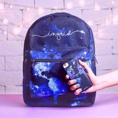 Cute Mini Backpacks, Stylish Backpacks, Girl Backpacks, Mochila Galaxy, Fashion Bags, Fashion Backpack, Bts Bag, Galaxy Backpack, Purses And Bags