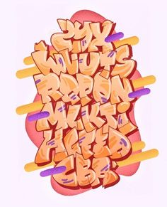 Graffiti Alphabet Styles, Graffiti Lettering Alphabet, Graffiti Font, Graffiti Tagging, Doodle Lettering, Graffiti Styles, Lettering Design, Graffiti Piece, Graffiti Doodles
