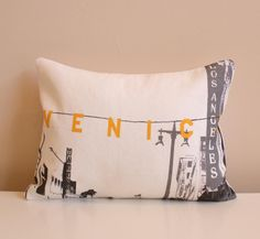Venice Beach Pillow  Urban Throw Style no21 by NestaHome on Etsy, $30.00