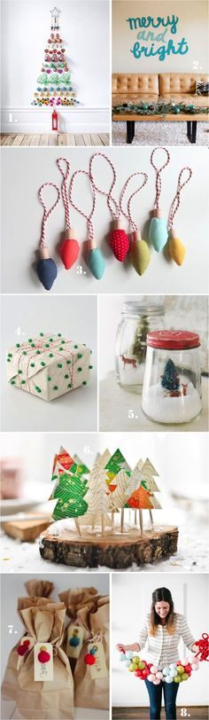I love these colorful Christmas ideas! These simple but festive ideas will bring joy to the holidays.