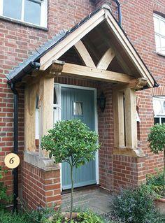 Handmade oak porch
