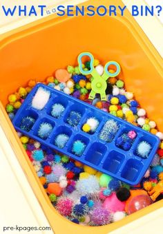 Benefits of Sensory Bins in Preschool. What is a sensory bin? Why would you want to use one in your preschool classroom? There are plenty of educational benefits of sensory bins...