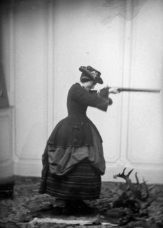 c. 1850s-1860s: Woman with a gun Source: Retronaut