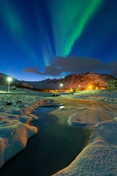 Aurora near Eggum, Norway..I want to go here one day.Please check out my website thanks. www.photopix.co.nz
