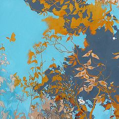 henrik simonsen - yellow would be an underpainting and blue would be painting in the negative space.