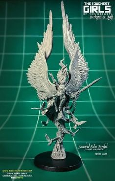 Raging Heroes have unleashed the powerful Ascended Sister, Erzebel to their collection recently. Take a peek at this angelic looking warrior woman. Hummingbird Wings, Imperial Agent, All Popular, Fantasy Miniatures, Warhammer 40000, Miniture Things, Love Painting, Cherub, Beautiful Models