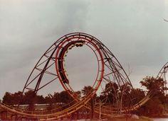 original Screamin' Demon roller coaster Kings Island, Roller Coaster, Safari, The Past, Park, The Originals, Country, Rural Area, Roller Coasters