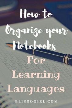 Do you use a notebook for learning a foreign language? You NEED to read my last post about how to organize your notebook for learning languages. Read more… Language Quotes, Language Study, Learn A New Language, Girl Language, German Language, Foreign Language Teaching, Language School, Classroom Language, Learning Italian