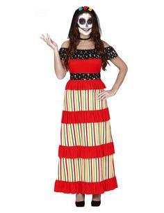 Halloween adulto Giorno dei Morti sarape Costume