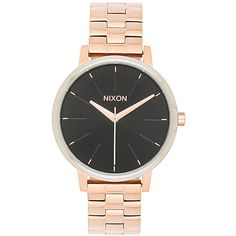 Nixon The Kensington (240 AUD) ❤ liked on Polyvore featuring jewelry, watches, stainless steel jewelry, nixon jewelry, stainless steel wrist watch, nixon wrist watch and water resistant watches