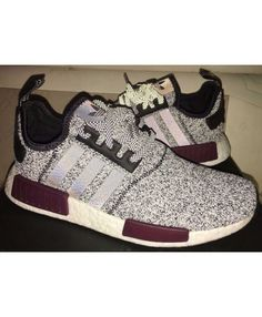 Adidas NMD R1 Champs Burgundy Grey Black Shoes