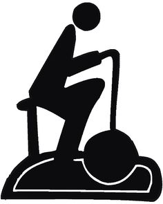 This is a cool exercise bike silhouette.