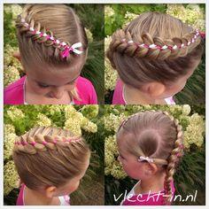 Ribbonbraids/heart hair. www.vlecht-in.nl