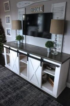 Sliding Barn Door Console by louisa