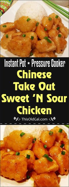 Pressure Cooker Chinese Take Out Sweet 'N Sour Chicken will cure your cravings for cheap Strip Mall $1.00 an item Chinese Food. via @thisoldgalcooks