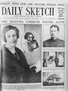 La desaparición de la escritora conmocionó al país y ocupó las portadas de los periódicos