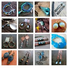 ChiliroseCreative - Jewelry in Aqua and Teal by chilirose-creative on Polyvore featuring Color Me