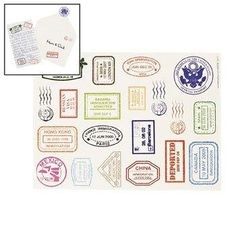 Amazon.com: Passport Stamp Sticker Sheets - Curriculum Projects & Activities & Social Studies: Arts, Crafts & Sewing