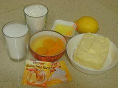 Fındıklı Limonlu Kurabiye İçin Gerekli Malzemeler Flan, Food And Drink, Eggs, Pudding, Cheese, Breakfast, Desserts, Bakken, Morning Coffee