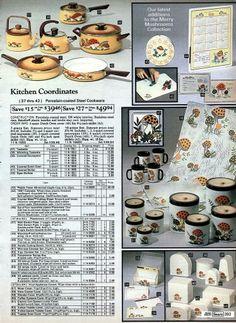 1980p2 Vintage Ads, Vintage Photos, Mushroom Decor, Christmas Catalogs, Dutch Oven, Twinkle Twinkle, Vintage Kitchen, Stuffed Mushrooms, Table Settings