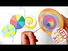 DIY Paper Spinner Toys - Red Ted Art's Blog