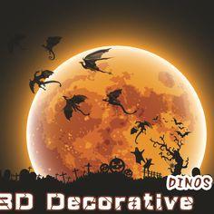 7pcs/lot Halloween Fantasy Decor Dinosaurs, Boys Rooms Fun life Game of Thrones Inspired 3D Dragon Wall Art, Dragon Silhouettes