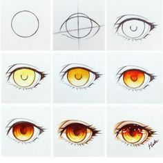 Eye brown drawing tutorial 44 ideas for 2019 Drawing Skills, Drawing Techniques, Drawing Tips, Drawing Sketches, Realistic Eye Drawing, Manga Drawing, Fire Drawing, Wie Zeichnet Man Manga, Poses References