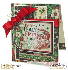 Scraps of Life: Graphic 45 November Project Sheets with a Christmas card; Dec 2016 #scrapsoflife #graphic45 #christmascard