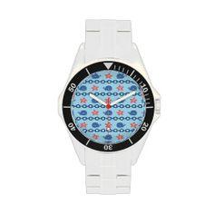 Whales, Starfish, & Nautical Chain Wrist Watch