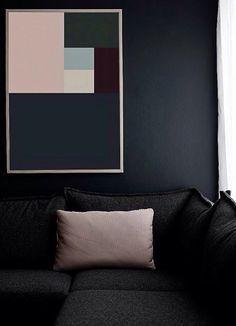 Rosa palo con negro, combinación perfecta.