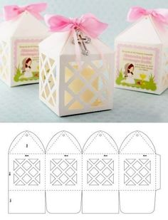 carterie, pergamano et tableaux - Page 7 - ankakusu Candy Gift Box, Diy Gift Box, Diy Gifts, Paper Crafts Origami, Diy Paper, Cajas Silhouette Cameo, Karton Design, Paper Box Template, Box Templates