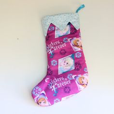 Frozen Christmas stocking  christmas decor  $20 by BloomsNBugs on Etsy