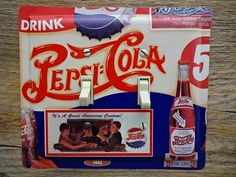 Pepsi Cola Soda Tin Cans Double Switch Plate Cover by tincansally