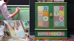 VIDEO Tutorial: Stenciling Furniture with Chalk Paint & Boho Chic Style Tiles - Mediterranean and Moroccan Tile Stencils on Painted Furniture Project - Royal Design Studio