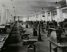 Old University of Michigan engineer's blacksmith shop.