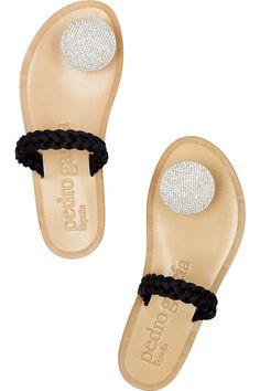 Pedro Garcia Zelda crystal-embellished sandals - My Color Fashion