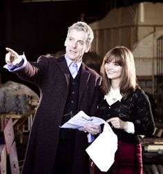 Doctor Who - Twelfth doctor & Clara Oswald fist pic!