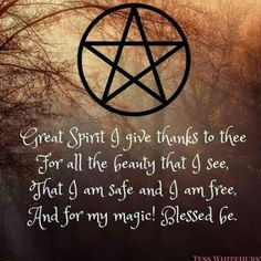 ☽✪☾. Giving thanks. Daily spell/mantra