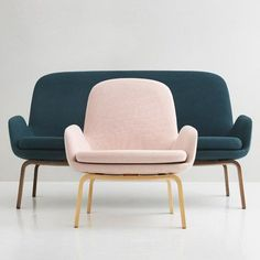 Danish designer Simon Legald has added a two-seater sofa to his Era lounge collection for Normann Copenhagen, responding to market demand for smaller sofas Sofa Design, Sofa Furniture, Furniture Design, Table Sofa, Dining Chair, Muebles Art Deco, Interior Desing, Small Sofa, Furniture Inspiration