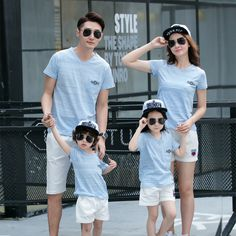 Family Matching Outfits Casual Family Clothing Mom/Mother and Daughter Father Son Clothes Clothing Family Clothing Sets GS22