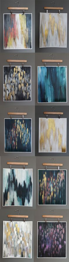 From Chris loves Julia blog. Love how they hung the paintings! They are for sale in their etsy shop.