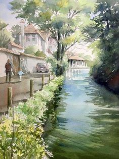 シャブリ    赤坂孝史の水彩画