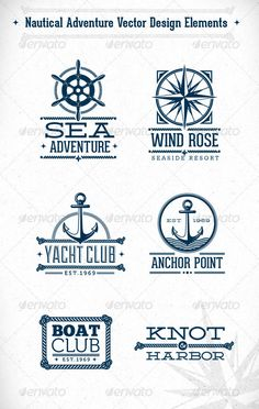 Nautical Adventure Vector Design Elements